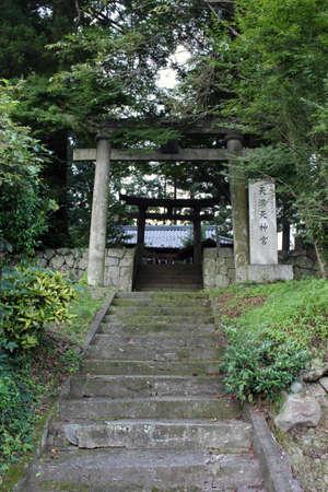 The gate of Motomuratenmanten Jinja, a Japanese shrine in the outskirt of Beppu, Japan. Taken in June 2019.