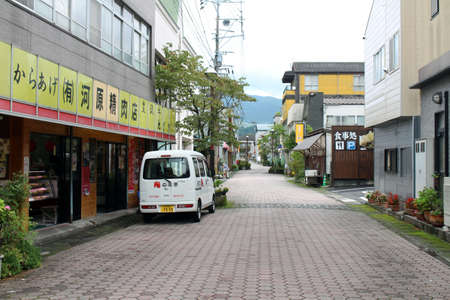 The Hananoki street of Yufuin, a Japanese onsen destination. Taken in June 2019.