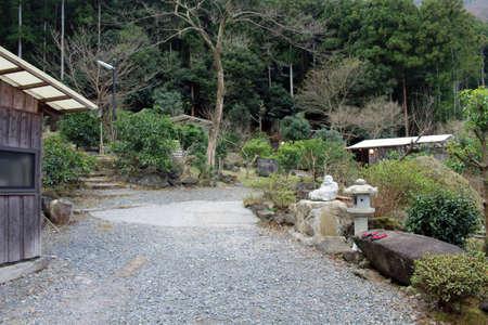 Traditional hotspring spa or onsen at Gotouen in Beppu, Oita, Japan. Taken in December 2019.