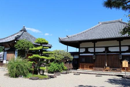 Main temple of Asukadera Temple in Asuka. Taken in September 2019.