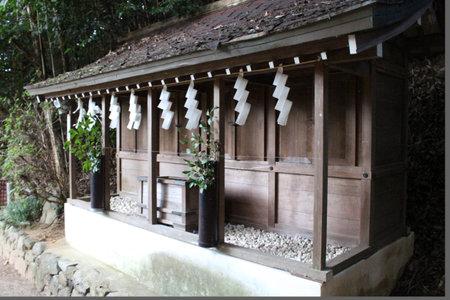 Situation around Asukaza Jinja Shrine in Asuka. Taken in September 2019. Editorial