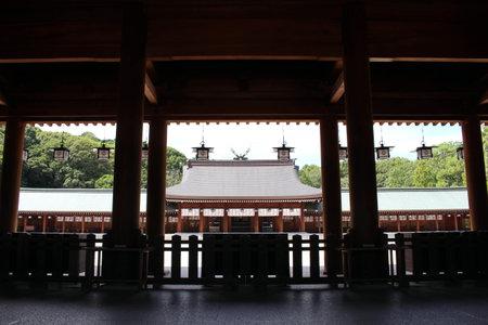 Inside Kashihara Jingu Temple in Nara, Japan. Taken in September 2019. Editorial