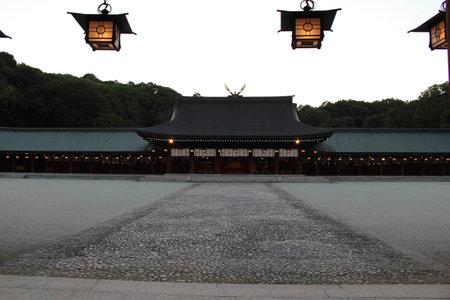 Lantern inside Kashihara Jingu Temple in Nara, Japan. Taken in September 2019.