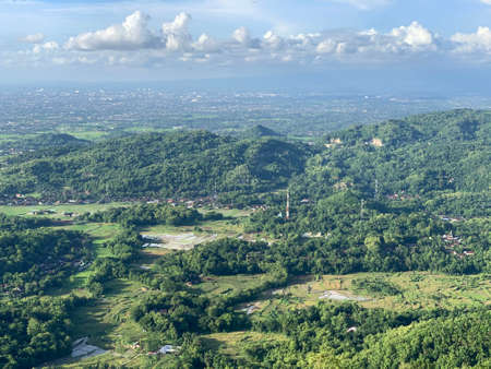 The view from Becici Peak or Puncak Becici, Yogyakarta.