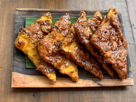 Indonesian grilled tempe or tempeh with sweet soy sauce.
