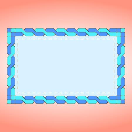 wickerwork: Blue braid label Illustration