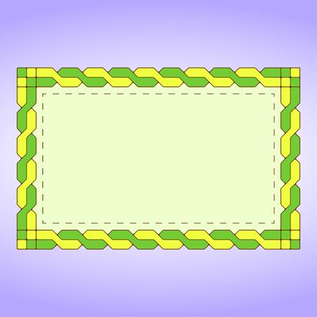 braid: Green braid label