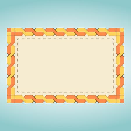 wickerwork: Orange braid label Illustration