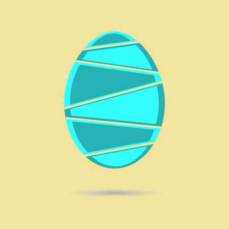 mint: Mint sliced easter egg Illustration