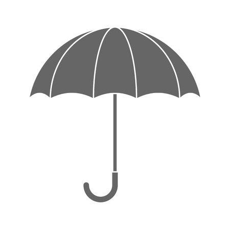 grey: Grey umbrella flat icon Illustration