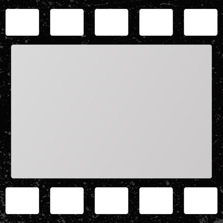 Retro movie film frame. Stock Illustratie