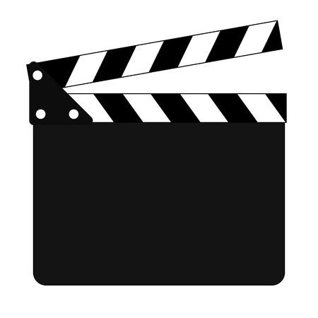 Clapper board flat icon. Illustration