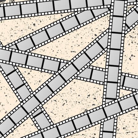 Achtergrond met filmfilms. Stock Illustratie