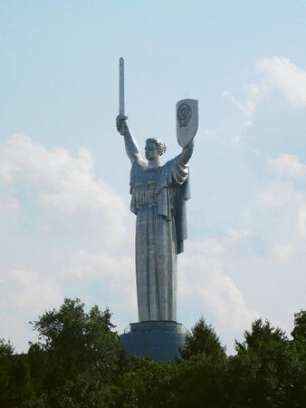 Motherland monument in Kyiv, Ukraine.