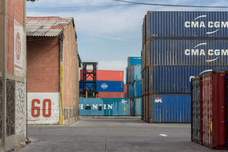 o. 01/11/2020. Trains and merchandise containers Editorial