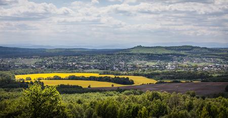 castle district: Spring landscape