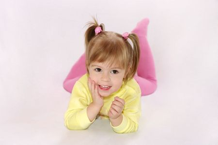 The little girl laughs Stock Photo - 6155568