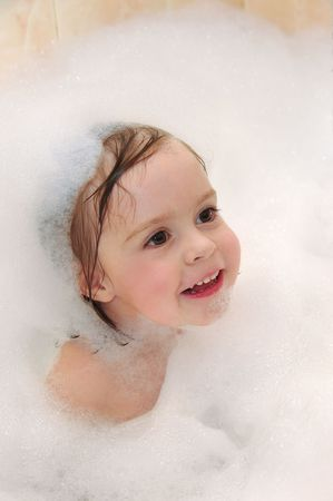 The child takes a bath. Stock Photo - 6155575