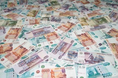 Russian Ruble. Background of Russian money. Вig Money