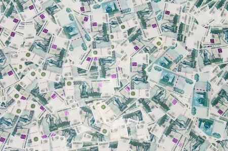 Russian Ruble. Background of money in 1000 rubles photo
