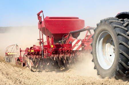 seed drill: Sowing machine close up