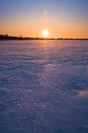 Winter landscape. Sunset. photo