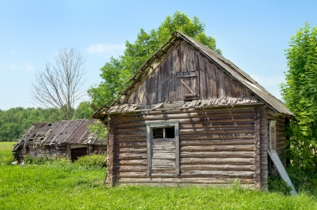 Old abandoned house in the village  photo