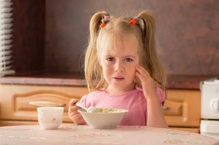 Child 3 5 years did not want to eat breakfast  Lack of appetite