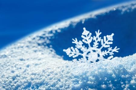 snow flakes: Snowflake light sunset