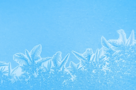 frosted glass: Frosty pattern at a window. Stock Photo