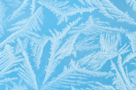 hoar frost: Abstract frosty pattern on glass. Stock Photo