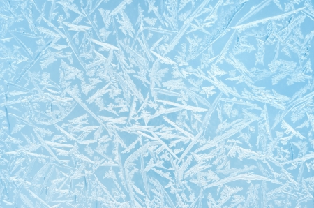 Abstract frosty pattern on glass  photo