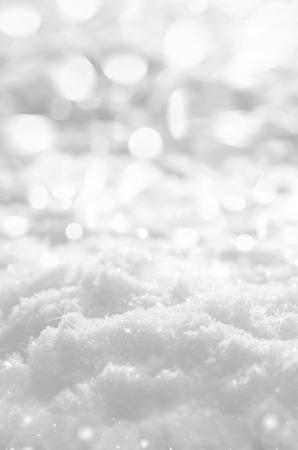 輝く雪の背景