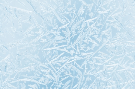 ice surface: Abstract frosty pattern on glass. Stock Photo