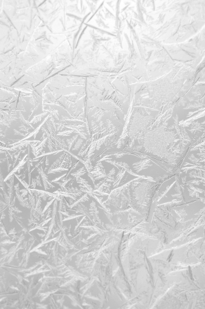rime frost: Abstract frosty pattern on glass. Stock Photo