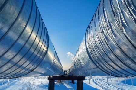 Pipeline on a background of blue sky Banque d'images