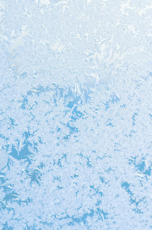 Abstract frosty pattern on glass