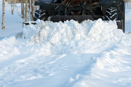 snow clearing: Clearing the road from snow