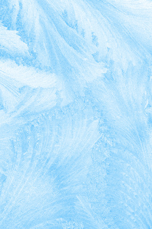 winter thaw: Beautiful frosty pattern on glass