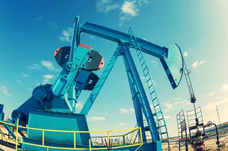 chink: Oil Pump Stock Photo