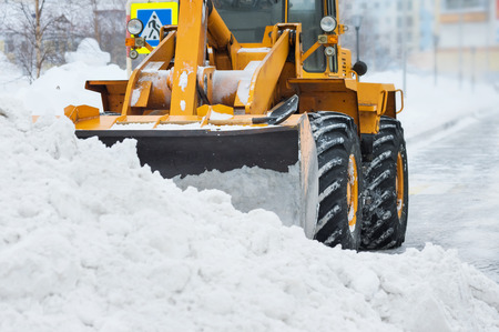snow clearing: Clearing snow after a storm