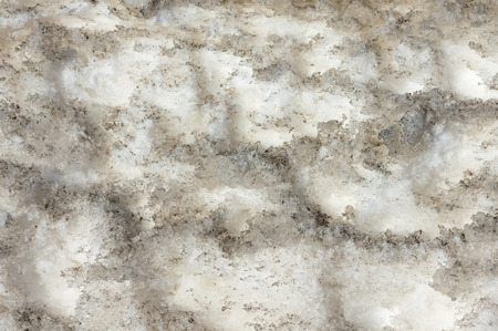 mud and snow: Abstract background of dirty snow spring