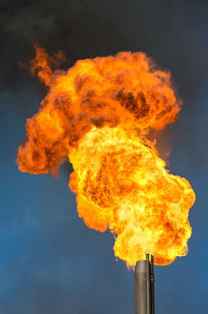 gas fire: Gas flaring. Burning of associated gas at oil production.
