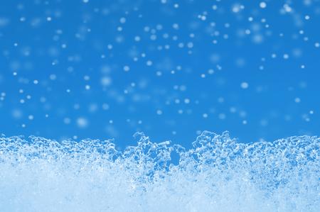 冬の背景。青空氷エッジ。 写真素材