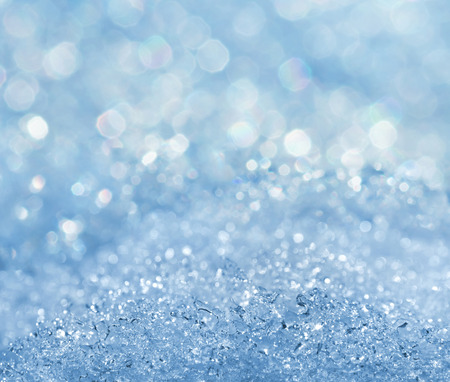 Winter icy bright background.