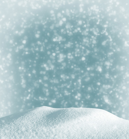 snowdrift: Christmas background with a snowdrift and the falling snow