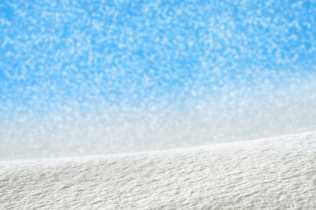 snowdrifts: Winter background with snow-drifts and blue sky Stock Photo