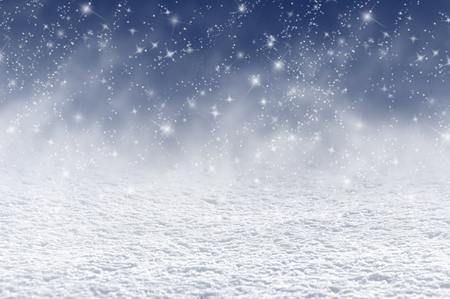 blizzard: Winter christmas background with shiny snow and blizzard