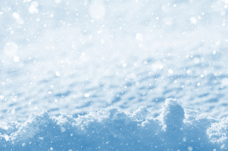 snow  ice: Winter christmas background with shiny snow and blizzard