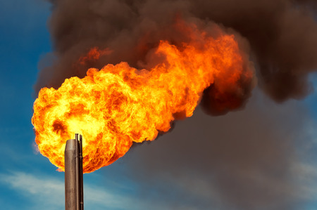 annihilation: Gas flaring. Burning of associated gas at oil production.